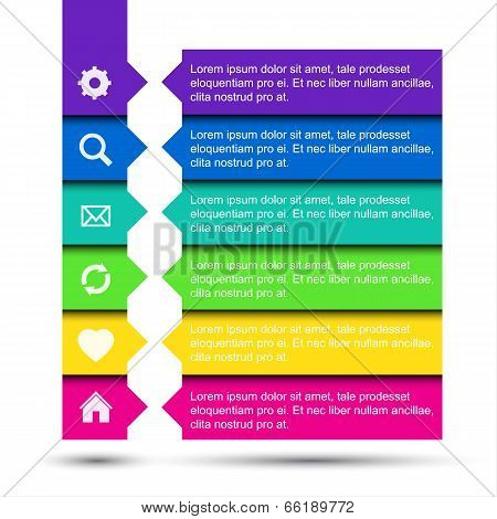 Simple modern navigation web banners