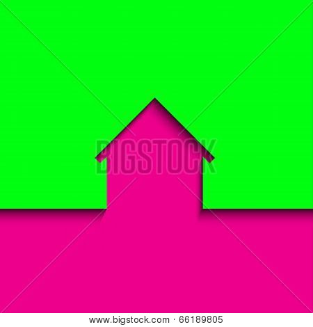 Modern abstract house icon