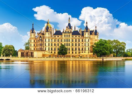 Ancient castle in Schwerin, Germany