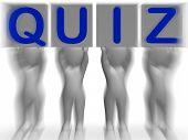 stock photo of quiz  - Quiz Placards Meaning Quiz Games Questions Or Exams - JPG