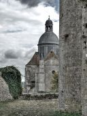 Old Medieval Cathedral In Dijon. France. poster