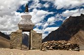 picture of jammu kashmir  - Stupa and mani wall around Pidmu village  - JPG