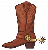 pic of boot  - cowboy boot vector illustration on white background - JPG