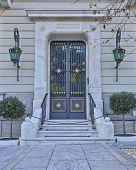 image of neo-classic  - elegant neo classical house entrance - JPG