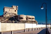foto of tarifa  - View of Castillo de Santa Catalina - JPG