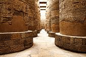stock photo of hieroglyphic  - Close up of columns covered in hieroglyphics - JPG