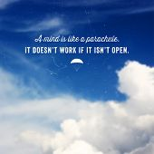 foto of parachute  - Quote Typographical Background - JPG