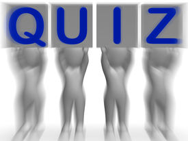 picture of quiz  - Quiz Placards Meaning Quiz Games Questions Or Exams - JPG