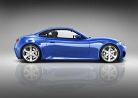 foto of designated driver  - Luxury Blue 3D Sports Car - JPG