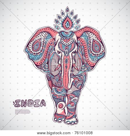 Vintage elephant illustration