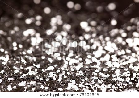 Christmas New  Year Silver Glitter background. Holiday abstract texture