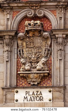 Plaza Mayor Royal Symbol Sign Madrid Spain
