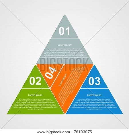 Triangular Infographic Design Element.