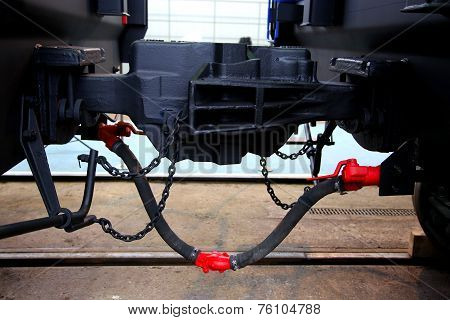 connection of railway cars