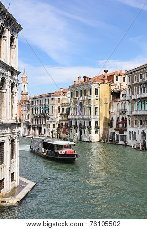 Grand Canal In Venice From Rialto Bridge