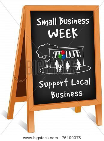 Sign, Folding Easel, Small Business Week