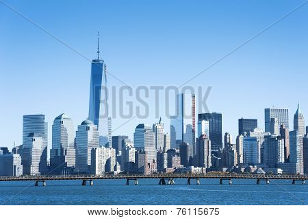 New York City Skyline From The Liberty State Park