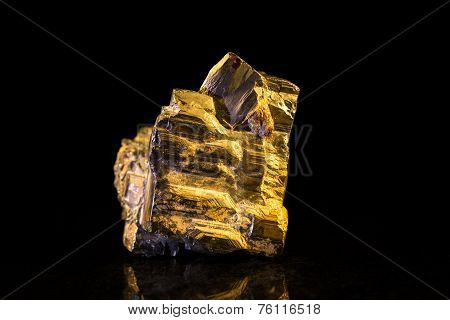 Pyrite In Front Of Black