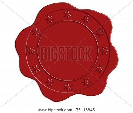 Red Wax Seal With Star Border