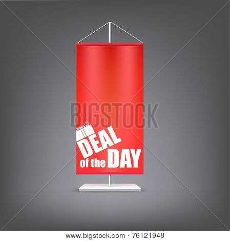 Deal of the day. Vertical red flag at the pillar.
