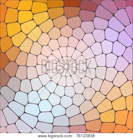 Abstract bright colored geometric background with an inner glow of colored lights