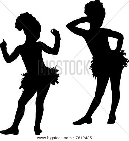Silhouette fashion children