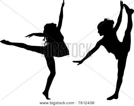 Silhouette sport dance