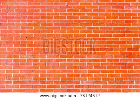 Red Brick Wall Of Modern Masonry