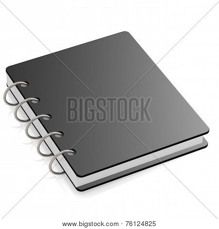 Black Hard Cover Book