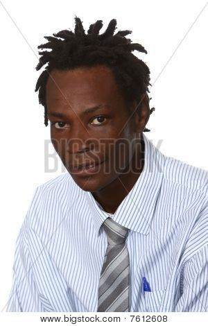 Black Businessman With Dreadlocks