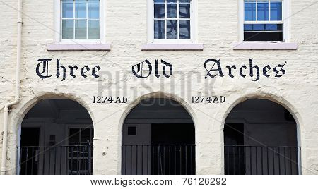 Three Old Arches, Chester.