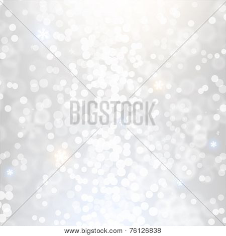 Blurred Christmas Lights for Xmas Holiday Design. Abstract Vector Illustration