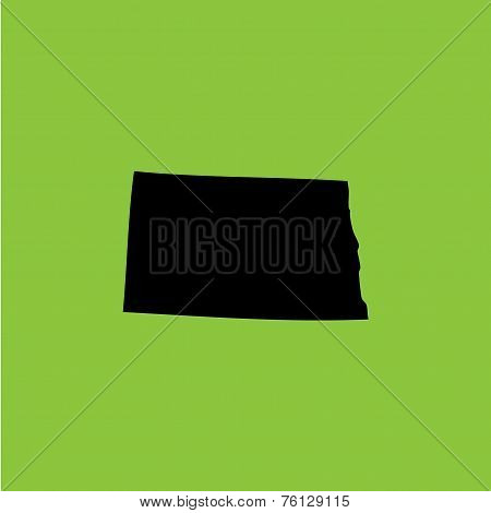 Coloured Background With The Shape Of The United States State Of North Dakota