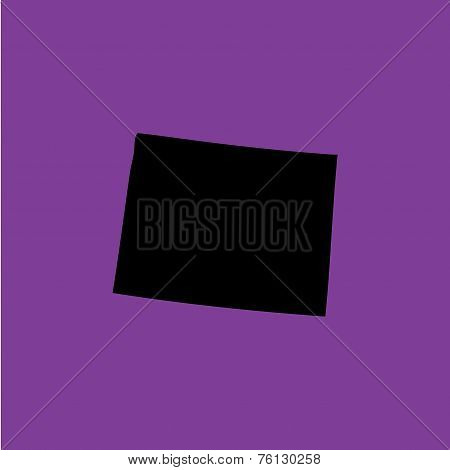 Coloured Background With The Shape Of The United States State Of Wyoming