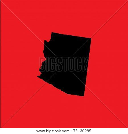 Coloured Background With The Shape Of The United States State Of Arizona