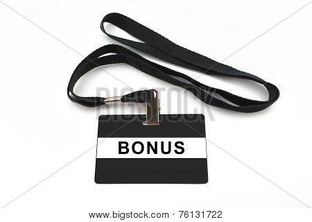 Bonus Badge Isolated On White Background