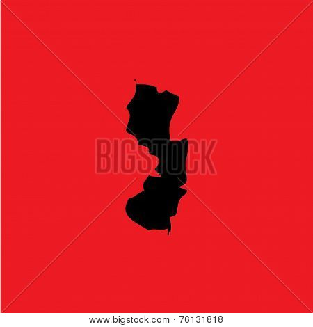 Coloured Background With The Shape Of The United States State Of New Jersey
