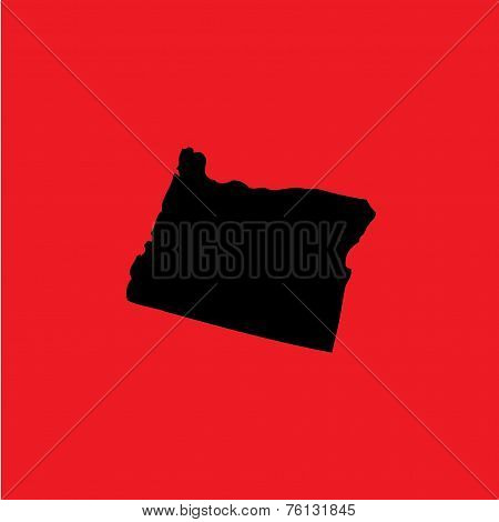 Coloured Background With The Shape Of The United States State Of Oregon