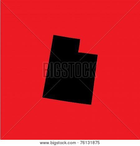 Coloured Background With The Shape Of The United States State Of Utah