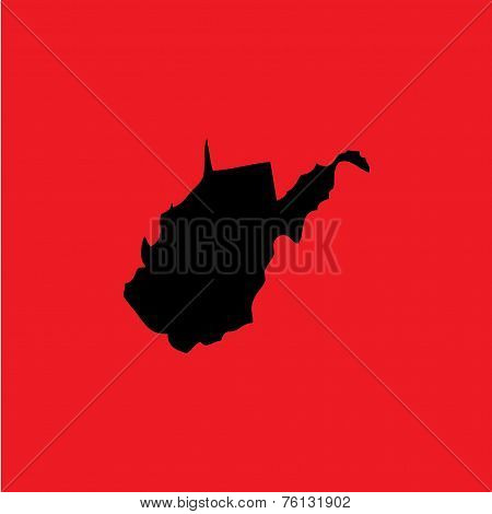 Coloured Background With The Shape Of The United States State Of West Virginia