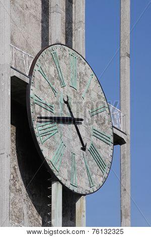 Clock of Aarhus city hall in Denmark