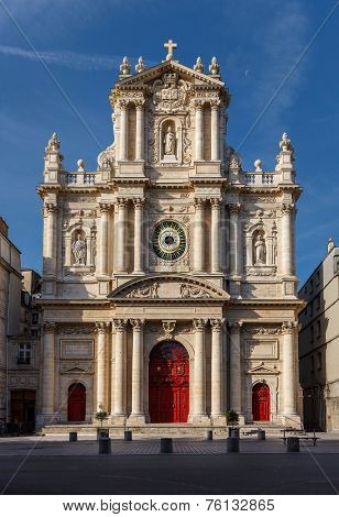 Church Of Saint-paul-saint-louis Facade, Paris, France