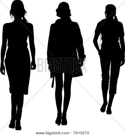 Silhouette fashion teenagers girls