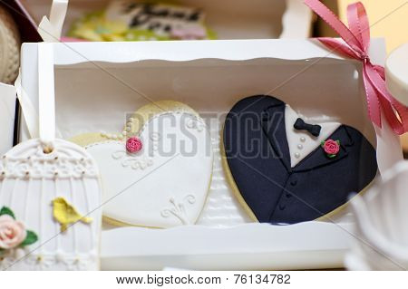 Elegant Sweet Table With Cupcakes And Other Sweets For Dinner Or Event Party.