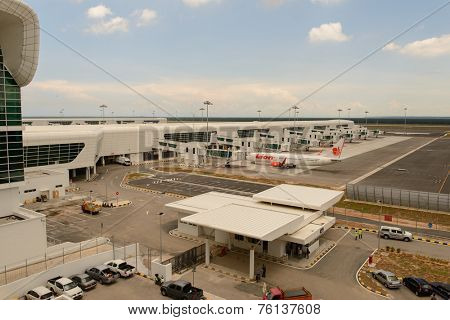 KUALA LUMPUR-MAY 06: KLIA airport on MAY 06, 2014 in Kuala Lumpur, Malaysia. Kuala Lumpur International Airport (KLIA) is Malaysia's main airport and one of the major airports of South East Asia