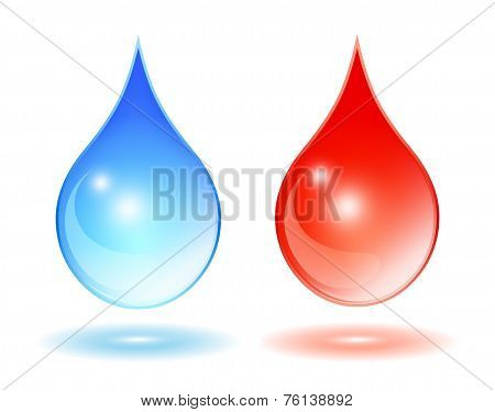 Hot cold water drop