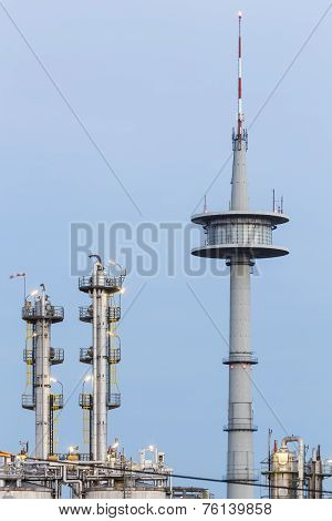 Chemical Plant And Communications Tower