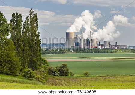 Power Station And Landscape