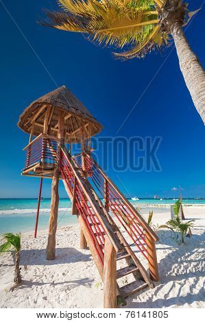 Lifeguard Tower On Caribbean Beach