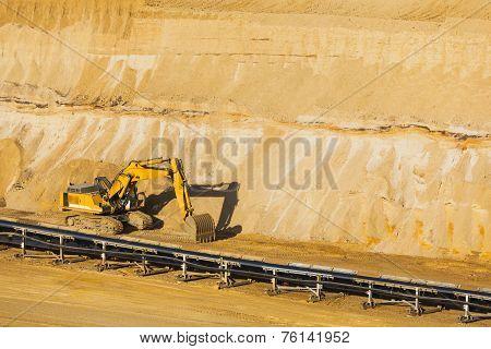 Excavator In Pit Mine